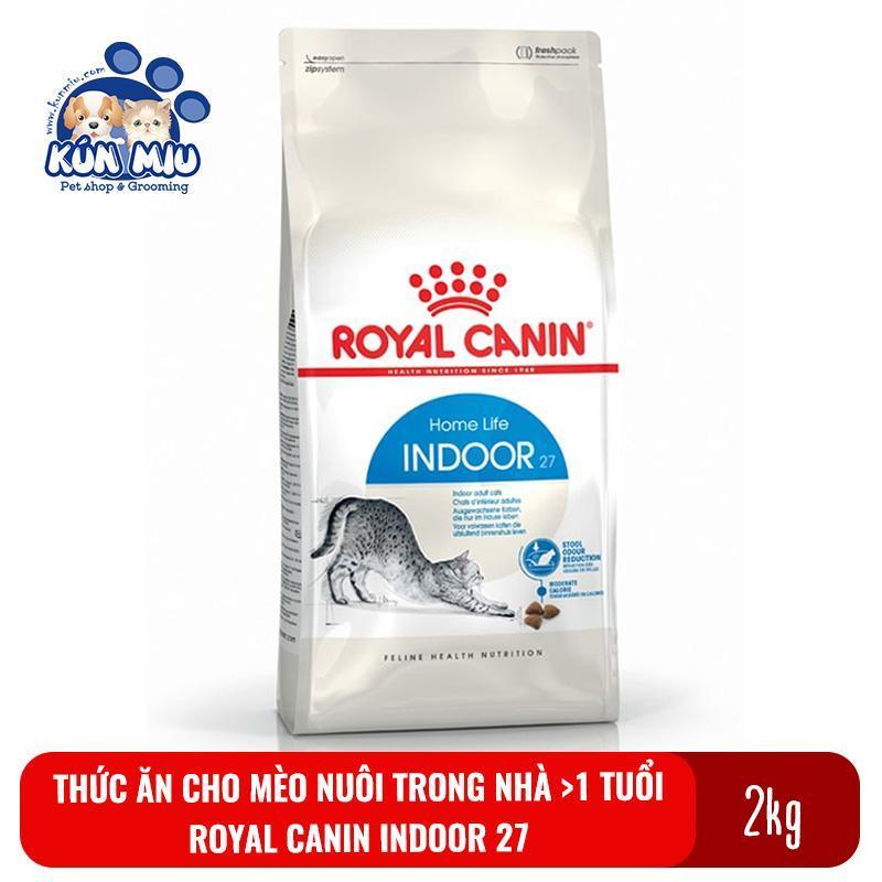 Thức ăn cho mèo nuôi trong nhà, ít vận động Royal canin Indoor 27 túi 2kg