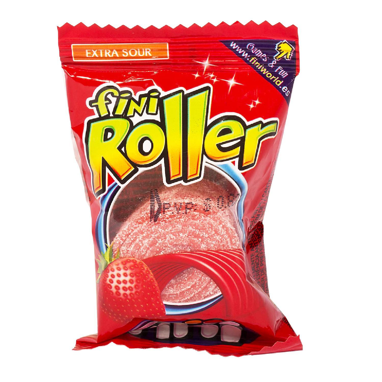 1 gói kẹo chua Fini Roller cầu vồng siêu dài 30cm/gói vị Dâu Tây ( Mẫu mới - Nội địa Tây Ban Nha - Xách tay Spain - Hạn sử dụng đến tháng 10/2020 )