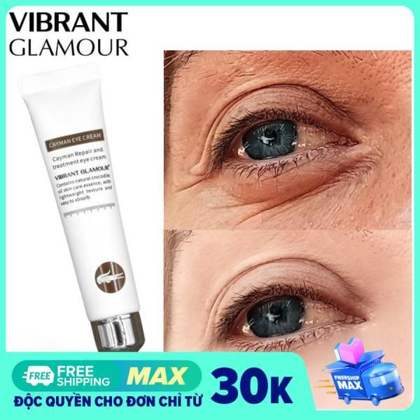 Kem Dưỡng Mắt Cá Sấu Dưỡng Trắng Giảm Thâm Bọng Mắt Chống Lão Hóa Vibrant Glamour Anti-Aging Cayman Eye Cream 20Ml