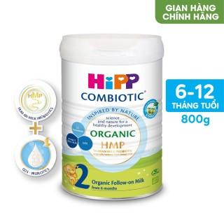 Sữa bột công thức HiPP 2 Organic Combiotic 800g bổ sung DHA trực tiếp thumbnail
