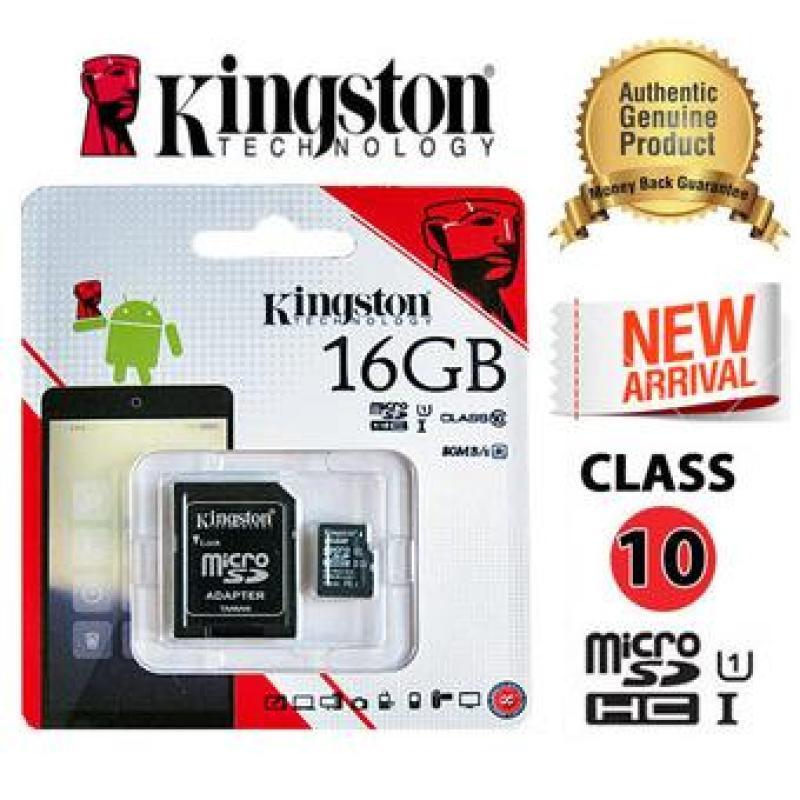 Thẻ nhớ KINGSTON Class 10 16GB Tốc Độ Cao Bảo Hành 5 Năm