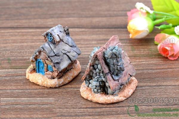Ngôi nhà đá - Trang trí tiểu cảnh hồ cá, tiểu cảnh sân vườn. Mô hình nhà đá