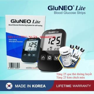 Máy Đo Đường Huyết GluNEO Lite - Tặng kèm 25 que thử đường huyết, 25 kim chích máu ( Sản xuất và nhập khẩu tại Hàn Quốc) thumbnail
