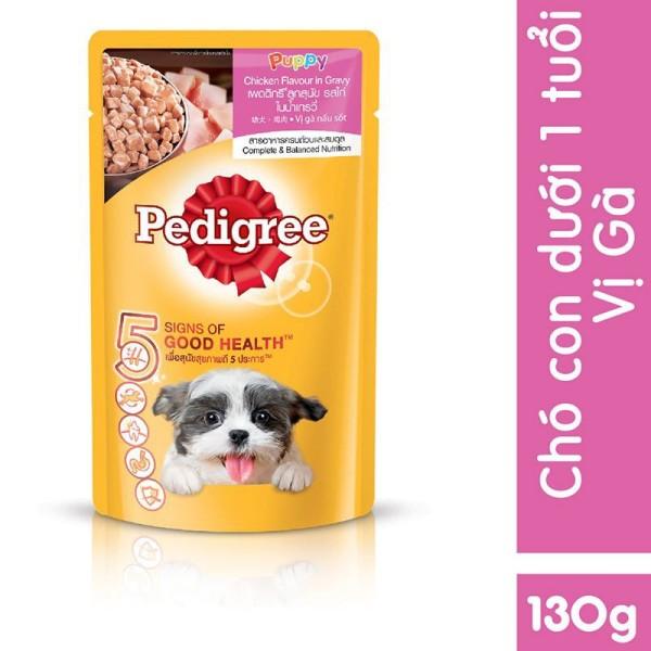 Thức ăn Pedigree cho chó dạng sốt túi 130 Gram