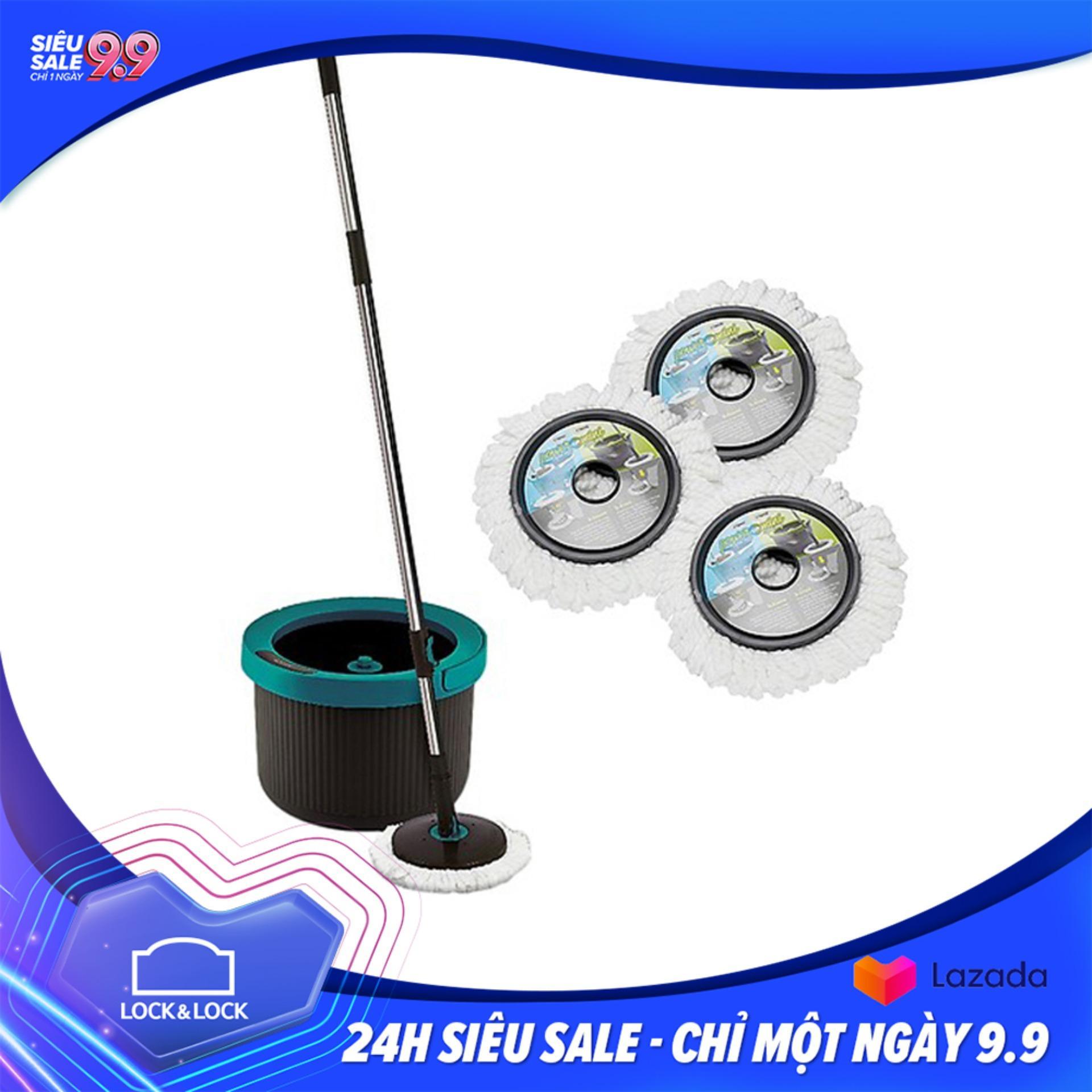 Bộ Cây Lau Nhà 360 Độ Mini Twister Màu xanh+...