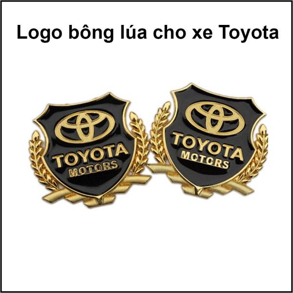 Logo Bông Lúa Trang Trí Ô tô, Xe Hơi Theo Hãng Xe TOYOTA