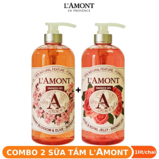 [COMBO SIÊU TIẾT KIỆM] 2 Chai Sữa Tắm LAmont En Provence Hoa Anh Đào chai 1000ml chai thumbnail
