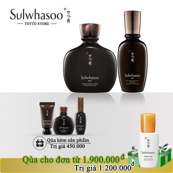 Bộ Dưỡng Da Chuyên Sâu Cho Nam Sulwhasoo Men Age Defyng - Sữa dưỡng cho nam Sulwhasoo Skin Reinforcing Emulsion 90ml và Tinh chất serum cho nam Sulwhasoo Inner Charging Serum 140ml cao cấp