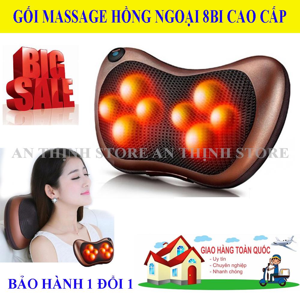 Gối Massage, Gối Massage Hồng Ngoại 8 Bi Loại Tốt, Gối Massage Cổ, Gối Mát Xa Hồng Ngoại Cao Cấp. Thiết kế gọn nhẹ, dễ sử dụng với 8 bi hoạt động mạnh mẽ giảm đau, căng thẳng mệt mỏi hiệu quả . Bảo Hành 1 đổi 1.