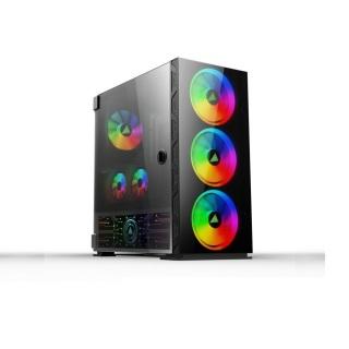 Case Máy tính Fa-401 gaming có sẵn Led Rgb kính cường lực, hông trong suốt cực đẹp hàng cao cấp, Vỏ Thùng máy tính mẫu mới bán chạy, Vỏ case cho máy tính siêu sang đẳng cấp thumbnail