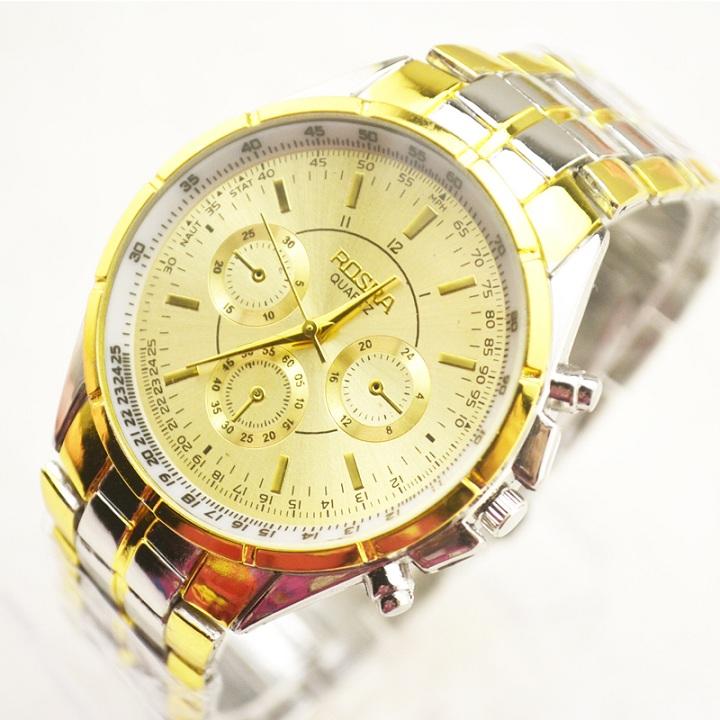 [MIỄN PHÍ GIAO HÀNG] Đồng hồ nam dây thép đúc đặc chính hiệu Rosra, khóa bướm cao cấp, tặng kèm pin dự phòng, bảo hành 2 năm