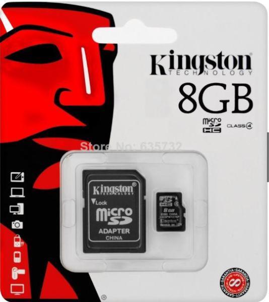 Thẻ nhớ Kingston 8G Class 10 (kèm Adapter)