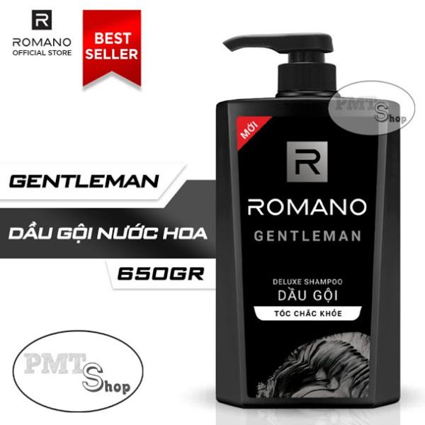 Dầu gội hương nước hoa Romano Gentleman 650g tóc chắc khoẻ