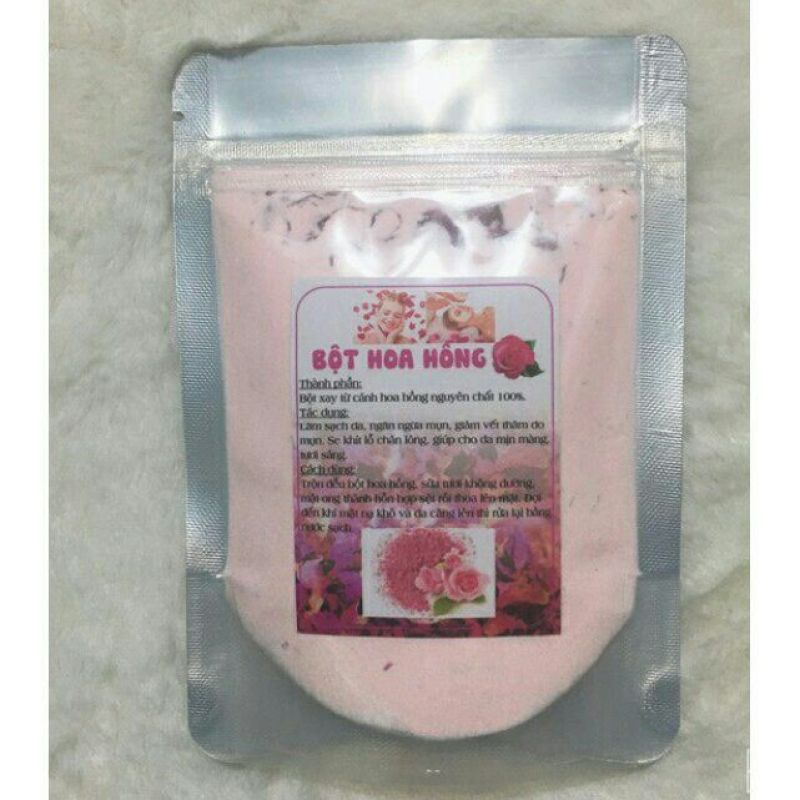 Bột đắp mặt nạ collagen hoa hồng dưỡng trắng