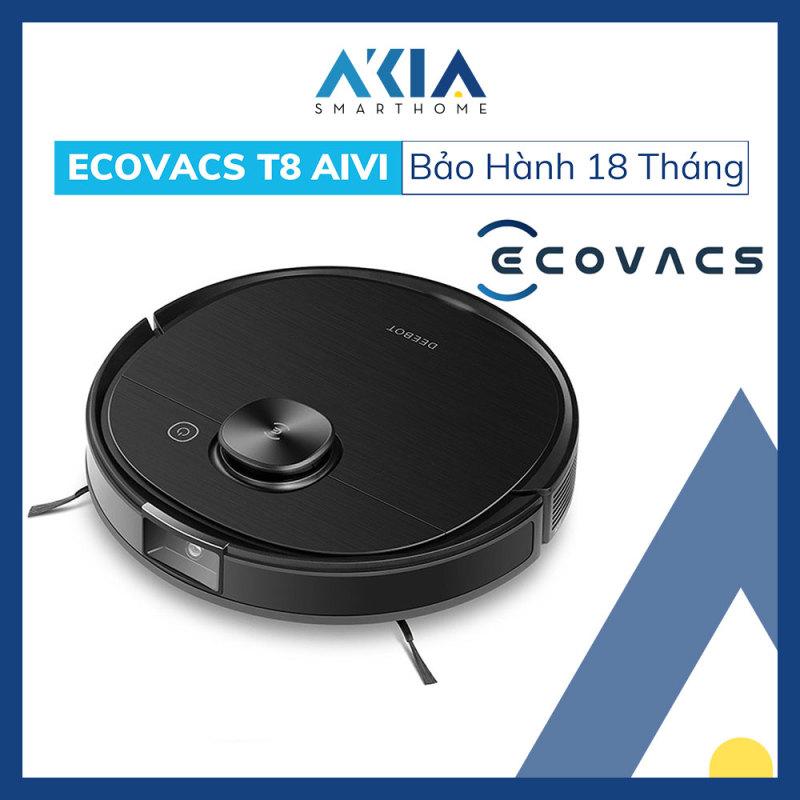 Robot hút bụi lau nhà thông minh Ecovacs Deebot OZMO T8 AIVI - Phiên bản quốc tế, bảo hành chính hãng 18 tháng