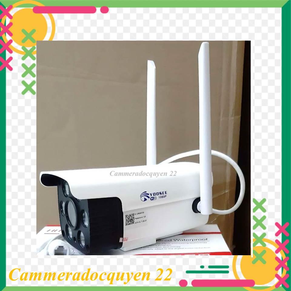 (kèm thẻ 32gb) Camera IP Wifi Ngoài trời app Yoosee 2 Râu 1080P - LED trợ sáng quay đêm có màu, chống nước chống bụi...