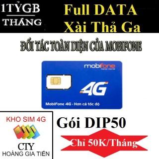 Sim 4G Mobifone DIP50 - Lướt Web - Chơi Game - Xem Youtobe Thả Ga chỉ 50k tháng. thumbnail