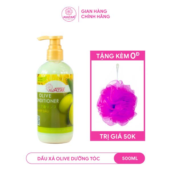 Dầu xả Olive Avatar 500ml Nuôi dưỡng tóc Chắc khỏe Chống gãy rụng Tóc Dài Suôn Mềm mượt