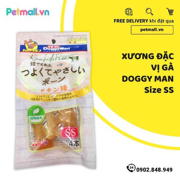 Xương đặc vị gà DoggyMan Size SS - 4 cây