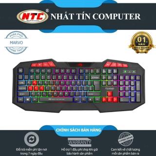 Bàn phím game Marvo K602 led đa màu - hỗ trợ 8 phím multimedia (Đen) - Nhất Tín Computer thumbnail