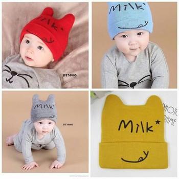 Mũ len Milk hình tai mèo cho bé