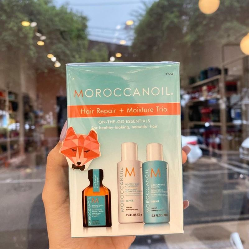 Set dưỡng tóc MOROCCANOIL Hair Repair Moisture Trio On The Go Essentials