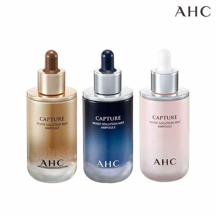 Tinh Chất AHC Capture White Solution Max Ampoule - Màu vàng chống lão hóa tái sinh da