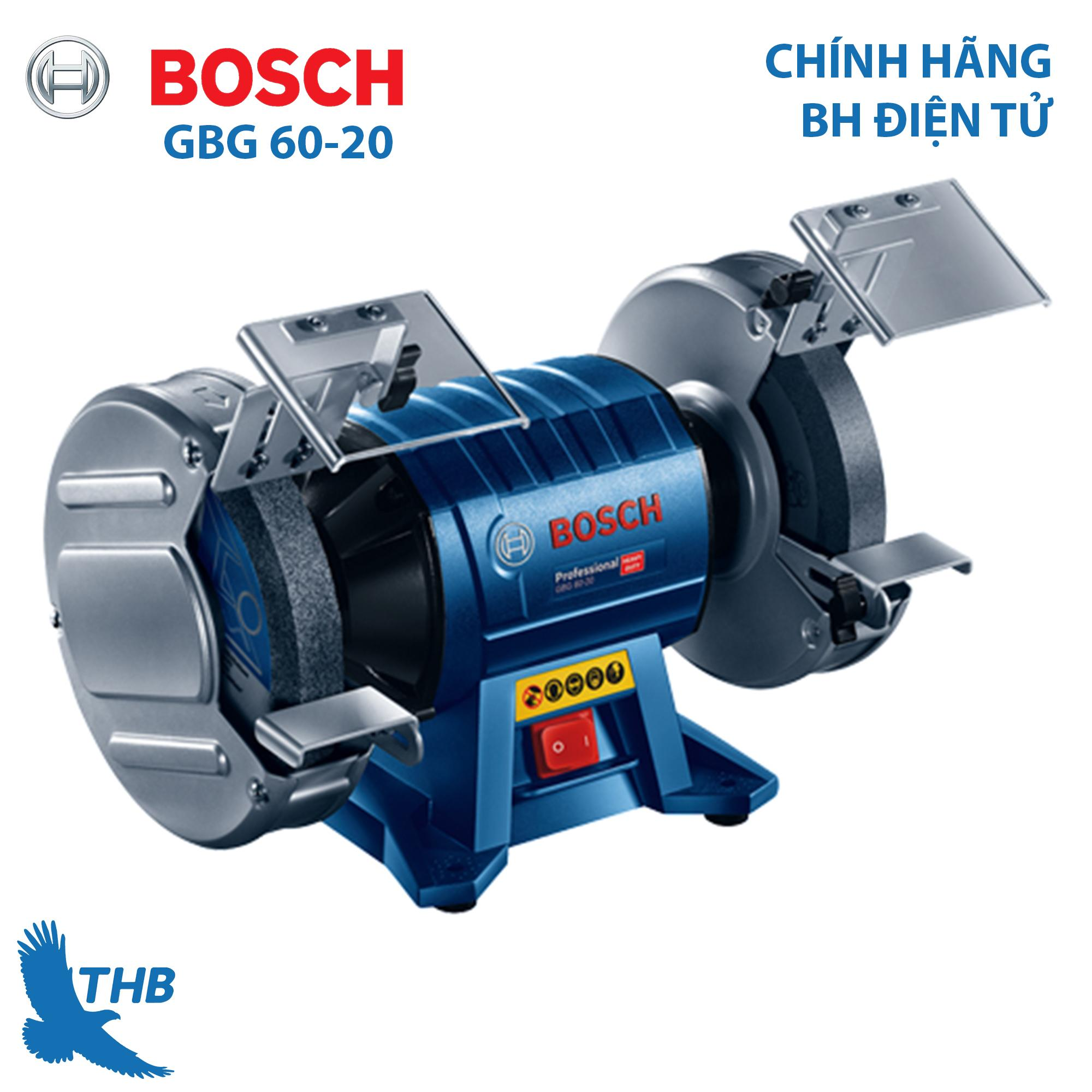 Máy mài bàn Máy mài hai đá Bosch GBG 60-20 Công suất 600W Đá mài 200mm Bảo hành điện tử 12 tháng