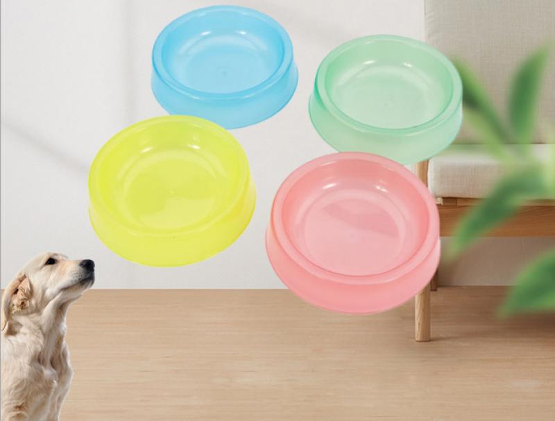 Bát thức ăn cho vật nuôi, bát nhựa đựng thức ăn nhiều màu sắc cho thú cưng
