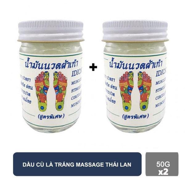 2 Dầu cù là trắng massage bàn chân chống đột quỵ, giảm cơn đau khớp- Thái Lan cao cấp