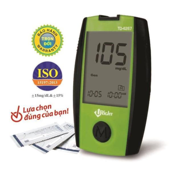 Máy đo đường huyết Uright TD 4267 tặng 25 que thử và 50 kim trích máu