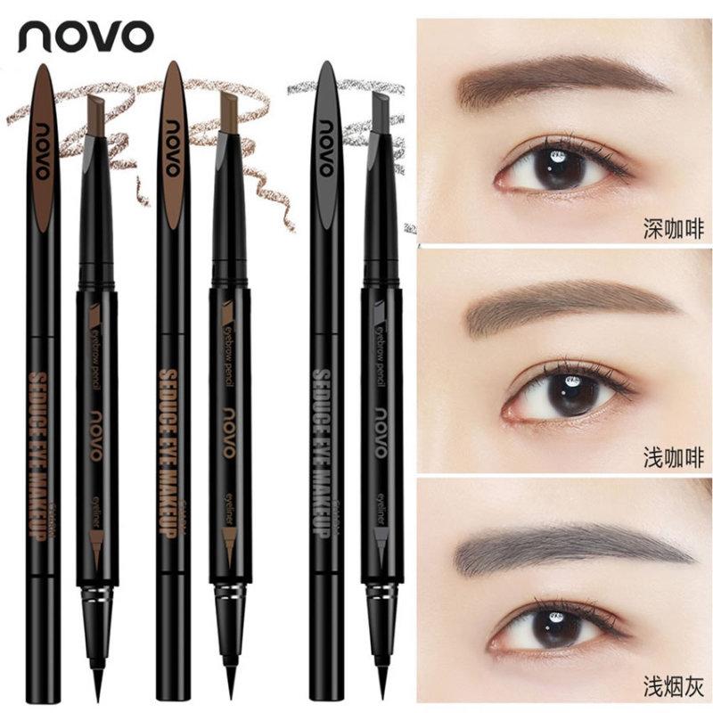 CHÌ KẺ MÁY, MẮT 2 TRONG 1 NoVo Makeup Seduce-Tenshi cosmetics
