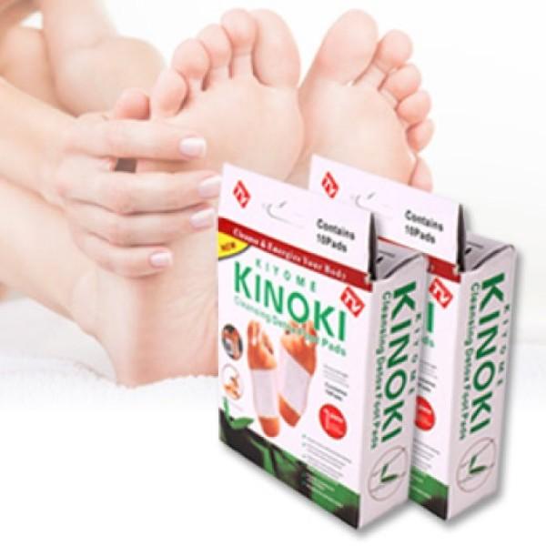 Hộp 10 miếng dán thải độc bàn chân Kinoki cao cấp