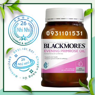 190 viên - Tinh dầu Hoa anh thảo Blackmores Evening Primrose Oil 190 Capsules thumbnail
