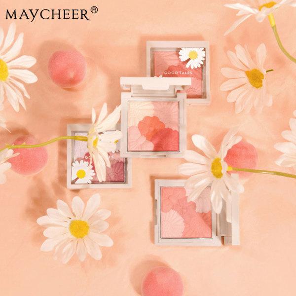 MAYCHEER Care cẩn thận Move Little Daisy Style Powder Mist Blush và Natural Contour Palette (6 màu có sẵn)