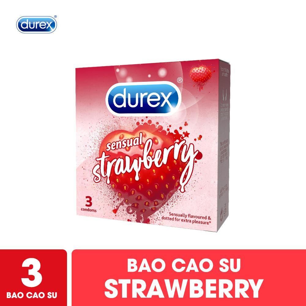 Bao cao su Durex Sensual Strawberry 3S cao cấp