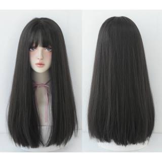 Tóc giả nữ cả đầu ❤️FREESHIP❤️ Tóc giả nguyên đầu cụp dài 45cm