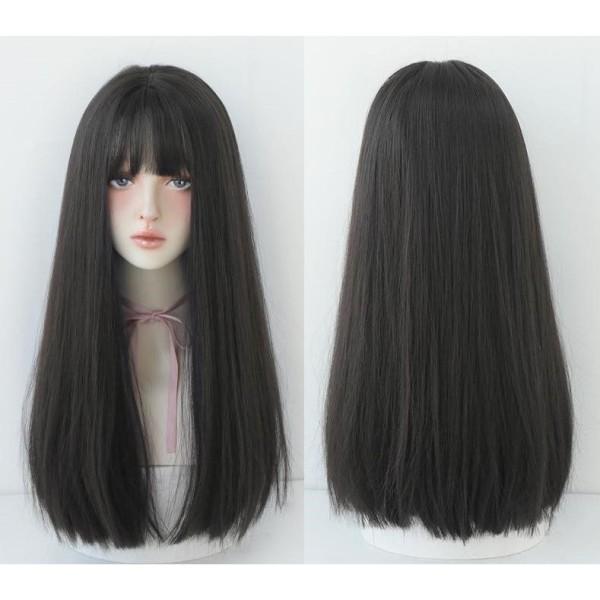 Tóc giả nữ cả đầu ❤️FREESHIP❤️ Tóc giả nguyên đầu cụp dài 45cm nhập khẩu