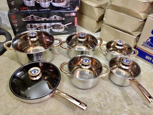 Bộ nồi KAISA VILLA - 6 món 12 chi tiết – Thương hiệu Đức – Dùng cho mọi loại bếp, đặc biệt là bếp từ
