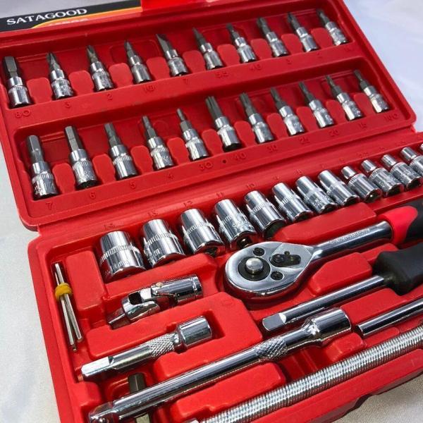 [LOẠI TỐT] Bộ dụng cụ mở bu lông ốc vít, bộ dụng cụ sửa chữa ô tô xe máy, bộ dụng cụ đa năng 46 chi tiết