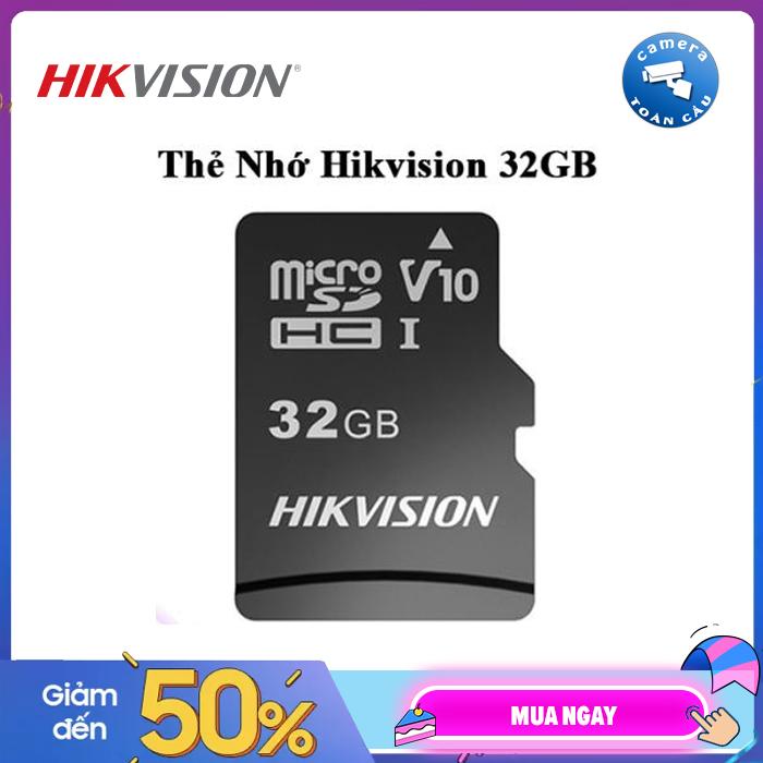 Thẻ nhớ HIKVISION 32GB 92MB/s chuyên dùng cho Camera HIKVISION, EZVIZ, KBVISION, DAHUA, IMOU - Thẻ nhớ Micro SD 32GB HIKVISON - Bảo hành 2 Năm - Camera Toàn Cầu