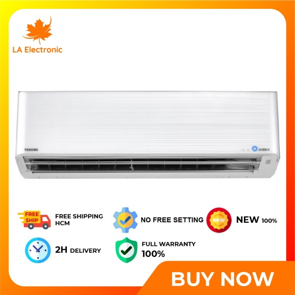 [GIAO HÀNG 2 - 15 NGÀY, TRỄ NHẤT 30.08] Trả Góp 0% - Máy Lạnh Toshiba Inverter 1.5 HP RAS-H13N4KCVPG-V - Miễn phí vận chuyển HCM