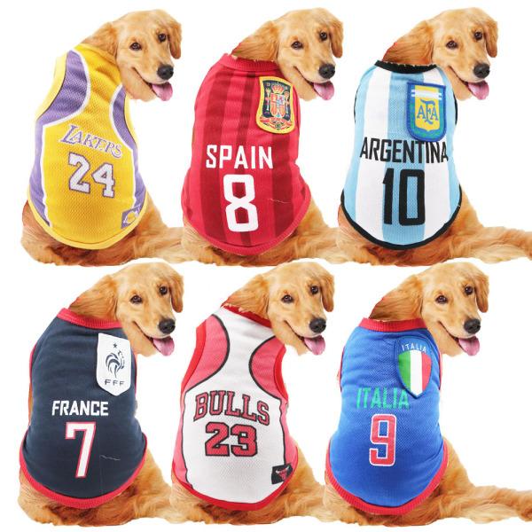 Áo bóng đá cho thú cưng size lớn 3XL - 5XL AT10-11(Inbox chọn mẫu)