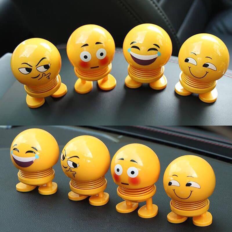 # HOT TREND # Mặt cười gắn lò xo nhún nhảy trang trí taplo xe hơi (ô tô) + Gắn xe máy, mũ bảo hiểm - Mặt cười Balody - Mặt cười + Emoji lò xo vui nhộn + Giao hình ngẫu nhiên