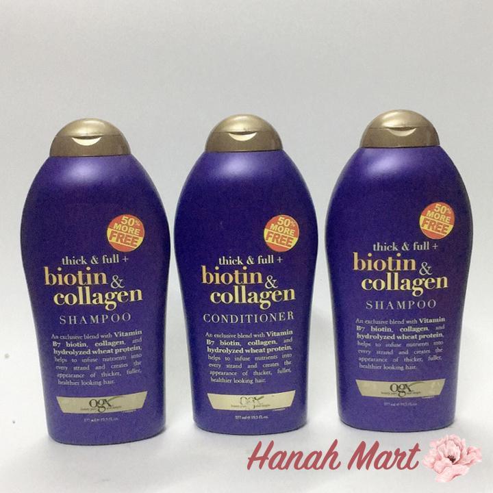 [Flash Sale] Dầu xả làm dày và mượt tóc Biotin & Collagen 577ml