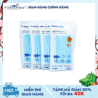 Combo 4 túi khẩu trang y tế cao cấp 4 lớp Famapro Max (10 cái Túi) thumbnail