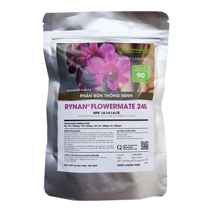 Phân Bón Thông Minh Túi lọc Rynan Flowermate 240 Dưỡng Thân Cành Lá Phong Lan Và Hoa Kiểng (Túi 180g)
