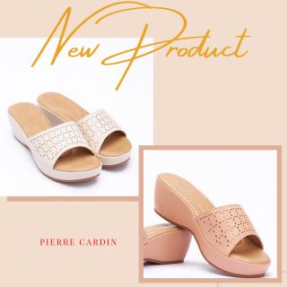 Dép nữ Pierre Cardin đế cao, chất liệu cao cấp PCWFWSE136, gian hàng chính hãng thumbnail