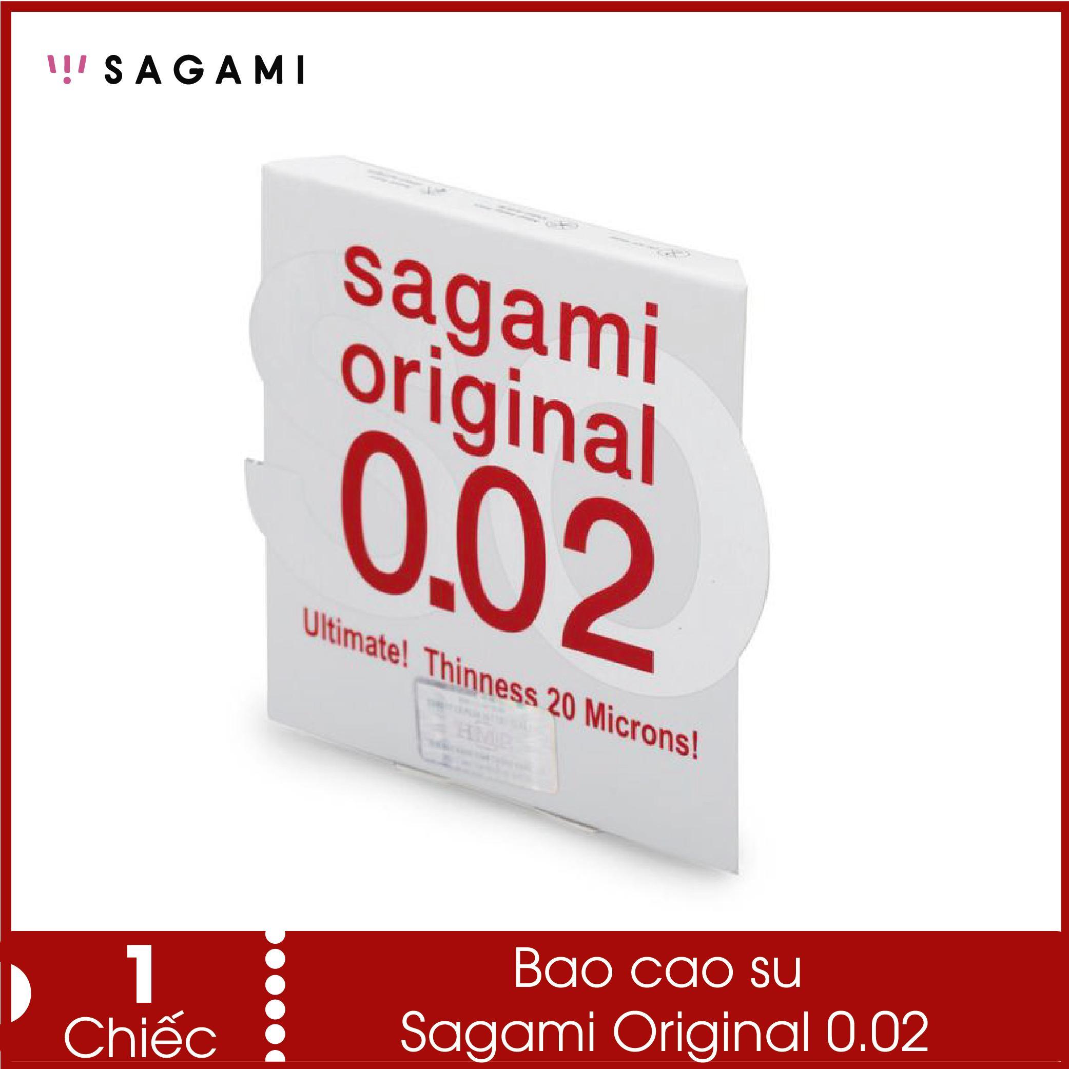 Bao cao su không bị rách Sagami 0.02 - hàng mỏng chịu lực cao, dùng như không dùng