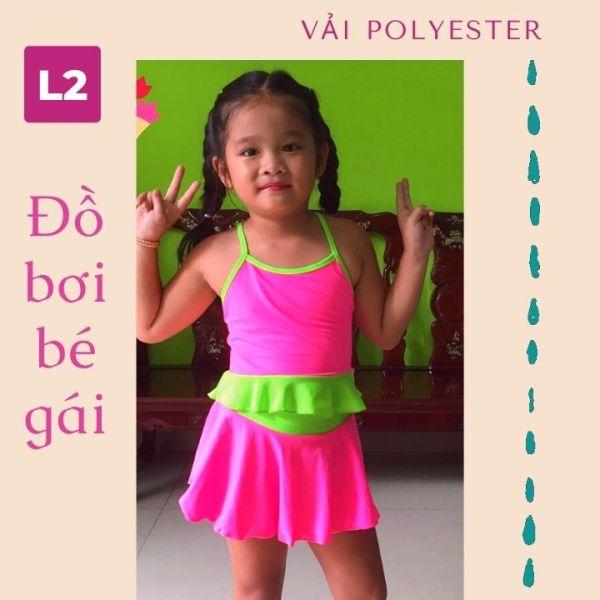 Nơi bán Đồ bơi hai mảnh bé gái từ 15-35kg, vải polyester - Red Ant Kids